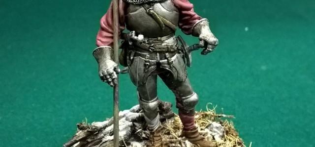 Soldatino di una Guardia Svizzera del XV secolo 54 mm modello TIN BERLIN colori misto olio/acrilico